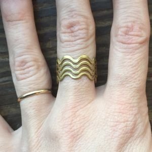 Jewelry - Wave Ring - Brass Adjustable